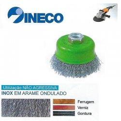 Taça de arame ondulado em Inox