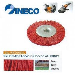 Escova circular de arame ondulado Nylon abrasivo