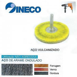 Escova circular com haste de arame ondulado vulcanizado