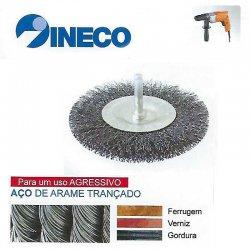Escova circular com haste de arame ondulado Aço