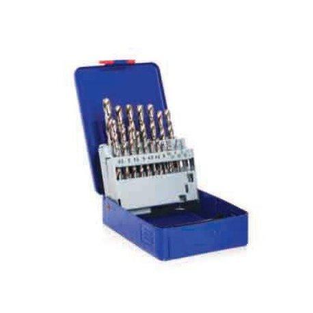 Jogos de brocas HSS em caixa metálica