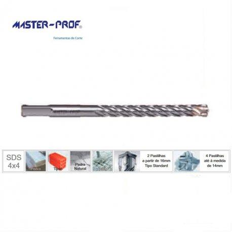 Brocas SDS-Plus quatro navalhas de 7 até 10mm